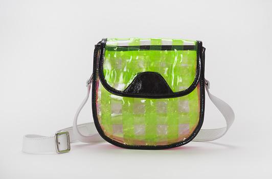 Neon Green / Clear Vinyl weave