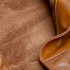 U hOO Classic Leather Tote - Caramel (detail)
