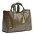 U hOO Classic Leather Tote - Olive