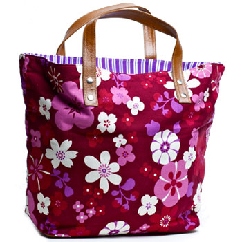U hOO Large Birdie Basket Reversible Shopper