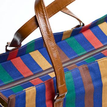 U hOO Multi-Stripe Weekender (detail)